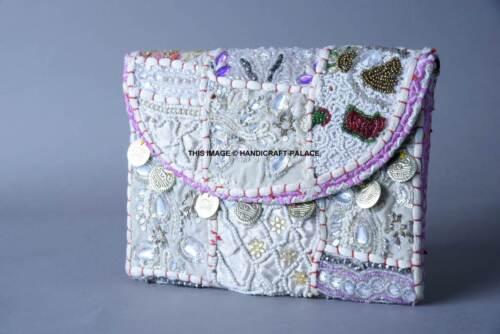 10 Pc Lot Vintage Indien Brodé Sac Bandoulière Sac à Main Mariage Sac à main sac à main