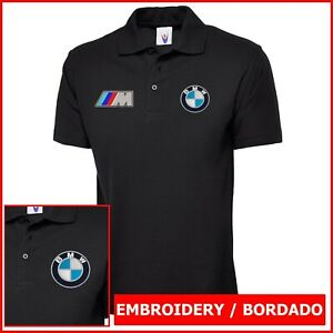 Camiseta Polo Hombre bordado Logo BMW M3 Mlll embroidery logo car