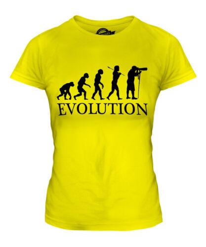 Photographe evolution of man femmes t-shirt tee top cadeau dslr caméra