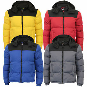 917acc0d981 Mens Bubble Jacket Brave Soul Coat Hoodie Quilted Padded DALE Winter ...