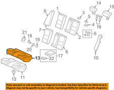 Front Honda Genuine 81531-TP6-A12ZD Seat Cushion Trim Cover Left