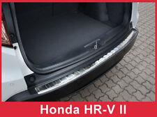 2016 - 2018 Honda HR-V HRV- Brushed Stainless Steel Rear Bumper Protector Guard