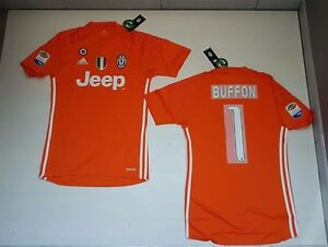 ADIDAS JUVENTUS JUVE Maglia Gara 1 Buffon Portiere Match Shirt Goalkeeper Jersey