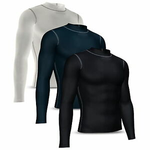 Mens-Compression-Base-layer-Shirt-Full-Sleeve-Skin-tight-Top-Long-body-armour