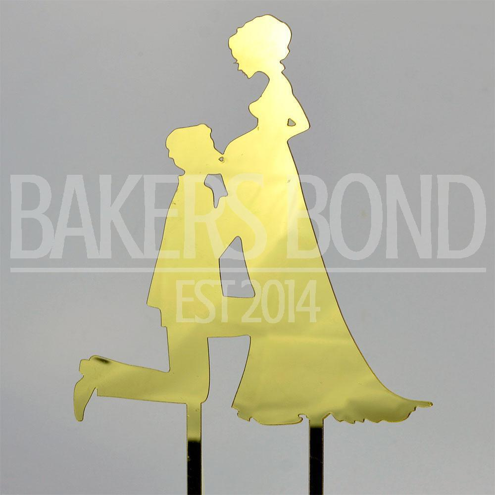 Mother to Be Gold Children Acrylic Wedding Day Cake Topper ...