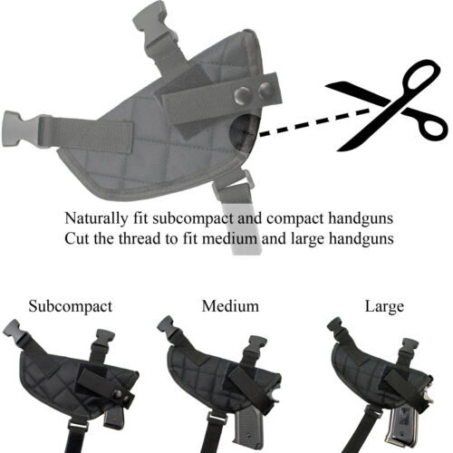US Double Draw Shoulder Holster Adjustable Pistol Holster Pouch