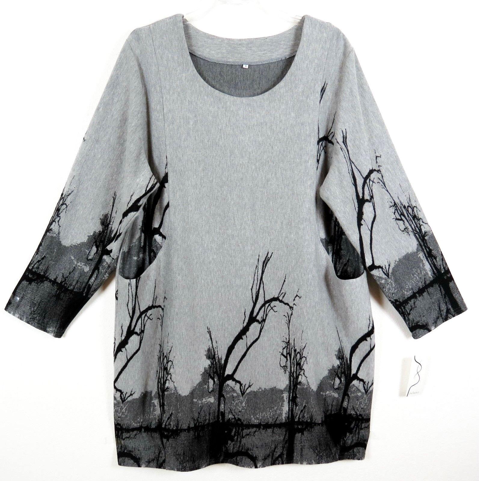 NEU traumhaft Kleid Dress Robe Long Tunika Tunic XL 48 50 Lagenlook exclusive