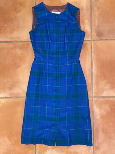 Women's VTG EUC Aljean of Canada Blue/Green Checke