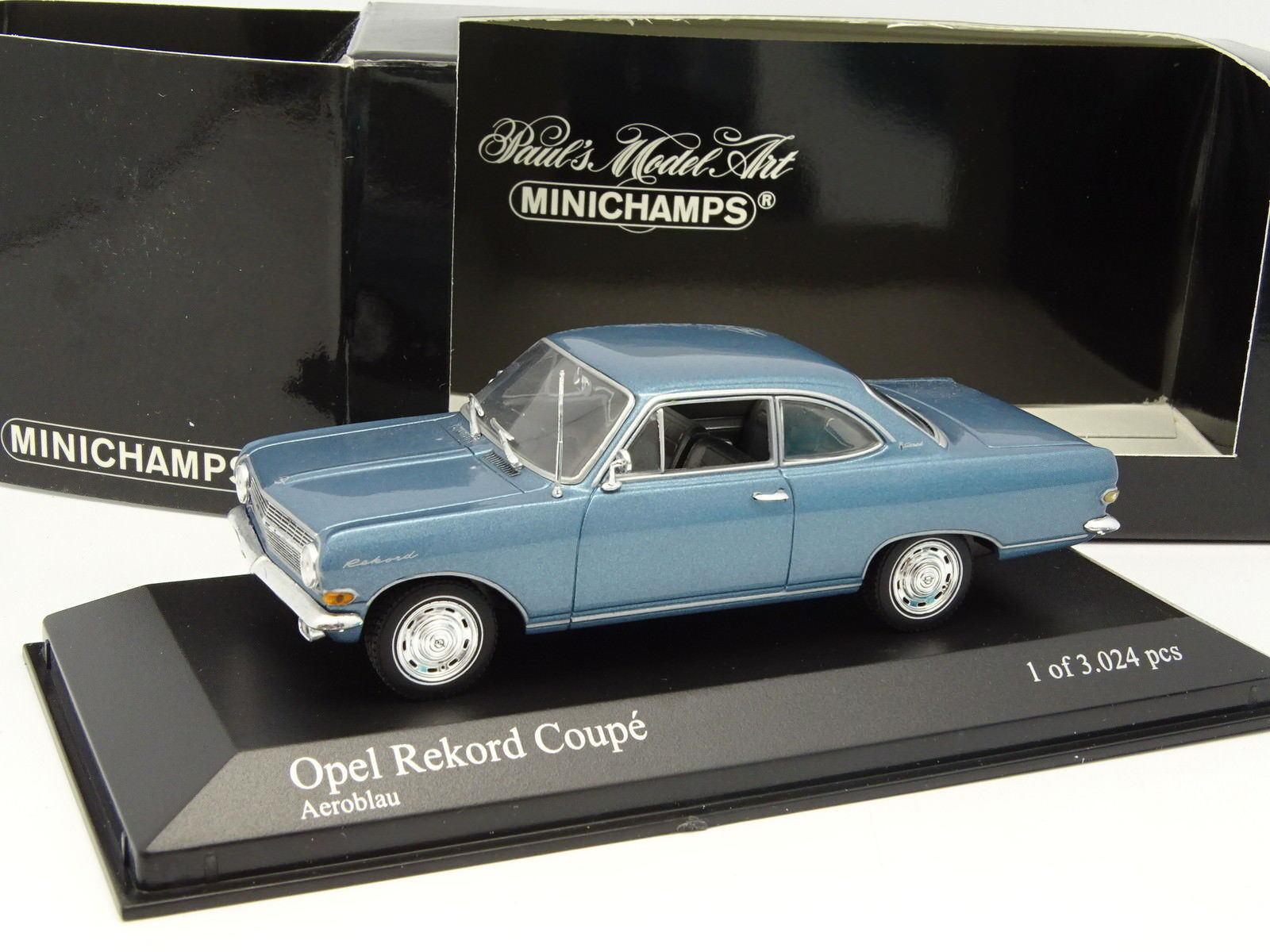 Minichamps Minichamps Minichamps 1 43 - Opel Rekord Coupe Azul 825a76