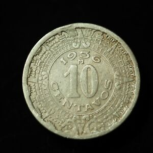 1936 Mexico Ten Centavos AU - Lot #5030