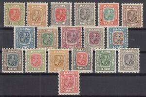 BB5630-ICELAND-1907-1918-MINT-SEMI-MODERN-LOT-CV-340