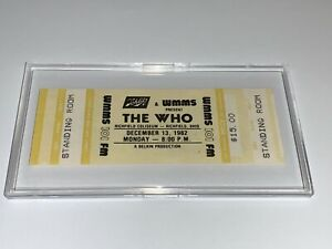 THE-WHO-UNUSED-1982-CONCERT-TOUR-TICKET-ROGER-DALTREY-Pete-Townshend-WMMS-USA-1