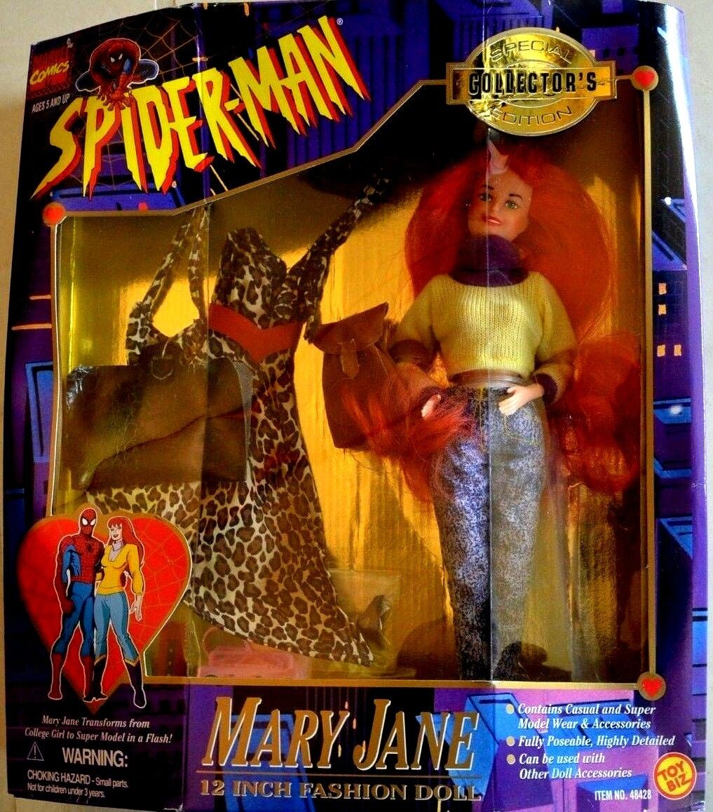 Spiderman MARY JANE 12 inch fashion doll collector's edition 1995, Uomo Ragno