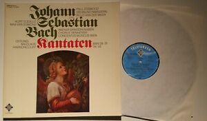 Bach Kantaten Wiener Sängerknaben Equiluz Harnoncourt Telefunken Stereo 2 LP´s