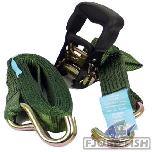 Spanngurt oliv 38mm 4,8m Zurrkraft 1200Kg Zurrgurt Gurt Spann Lashing Strap NEU