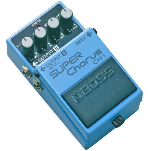 Boss CH-1 Super Chorus Pedal Effektgerät KEEPDRUM Gitarren-Kabel 3m