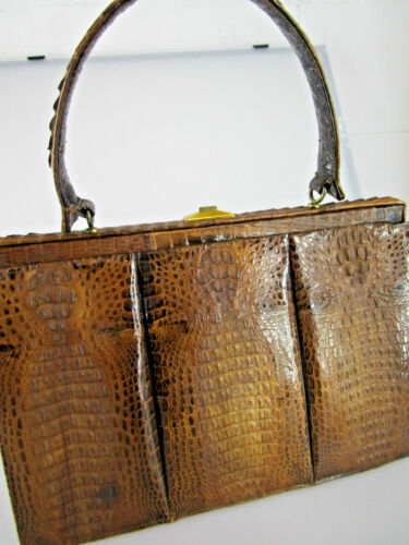 Echt Krokotasche Handtasche aus Croco Handtasche Krokoleder Croco Vintage TK2V06