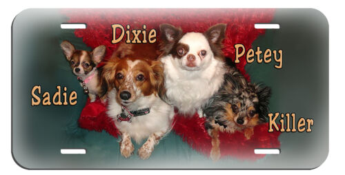 Pet Portraits Combine Your Photos Into A License Plate Personalize In Any Color