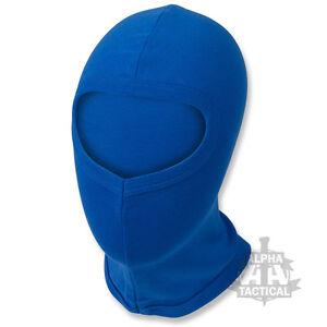 Ultra-Leger-Thermique-Cagoule-Bleu-Ouvert-Visage-Velo-Cycle-Couche