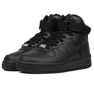 Dettagli su Scarpe sportive unisex Nike Air Force One high 334031 013 nero