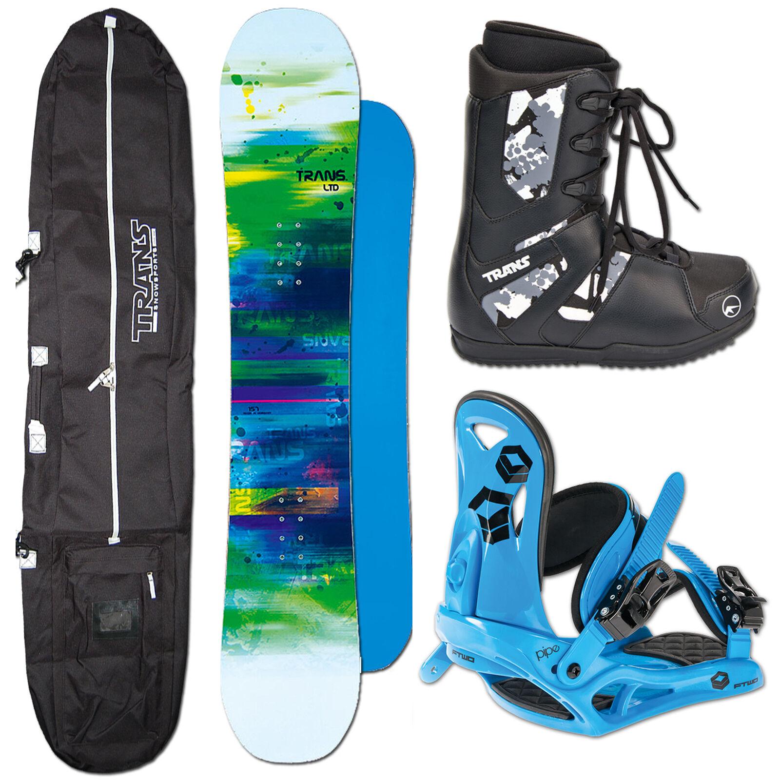 Men's Snowboard Trans Ltd White 139 cm + Ftwo Pipe BINDING M +Bag+ Boots