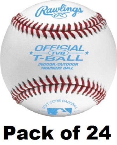 (24) ea Rawlings TVTTB24 Official Size & Weight Tee Ball Baseballs