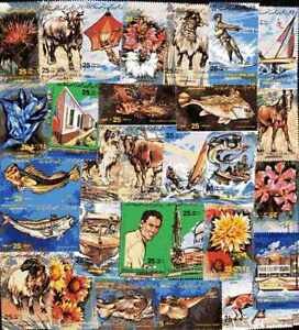 LIBYE collections de 25 à 300 timbres différents