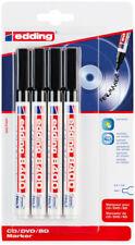 Edding 8400 Cddvd Markers Black Blister Of 4