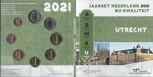 "1x Coffret BU (8 pièces) série Pays-Bas 2021 ""Utrecht"" (neuf)"