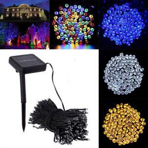 50-100-200-LED-Solar-String-Fairy-Lights-Garden-Christmas-XMAS-Outdoor-Party-Dec