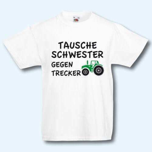Baratti sorella contro TRECKER REGALO motivo Bambini T-shirt Fun-shirt kids
