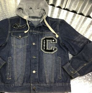 Imperious Denim Cotton Blend Men S Medium Varsity Style Hood