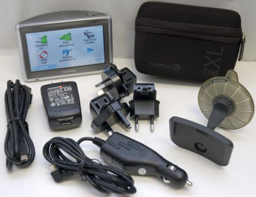 """TomTom ONE XL Car 4.3/"""" LCD GPS System USA /& EUROPE MAPS handheld receiver set B"""