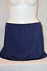 Deep-Blue-Chlorine-Resistant-Swim-Skirt-Control-Bottoms-Navy-Blue-NWT-Size-20