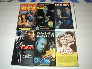 JOHN-TRAVOLTA-6-PACK-VHS-MOVIE-LOT-RARE-OOP-HTF