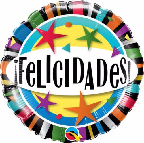 Spanish Language Latex-Foil Qualatex Balloons Feliz Cumpleanos,Vivan Los Novios