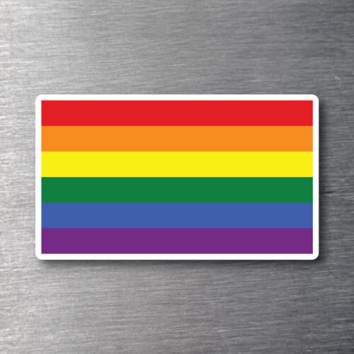 Gay Pride flag sticker 7 year water /& fade proof vinyl lbgt pride support
