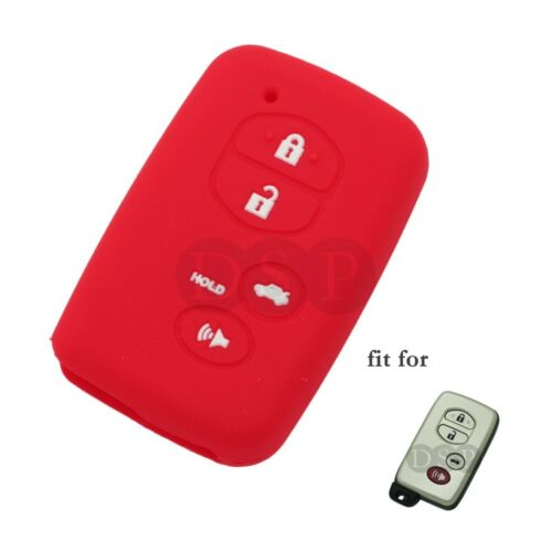 Silicone Cover fit for TOYOTA Camry RAV4 Prius Smart Remote Key 4 BTN CV2405 RD