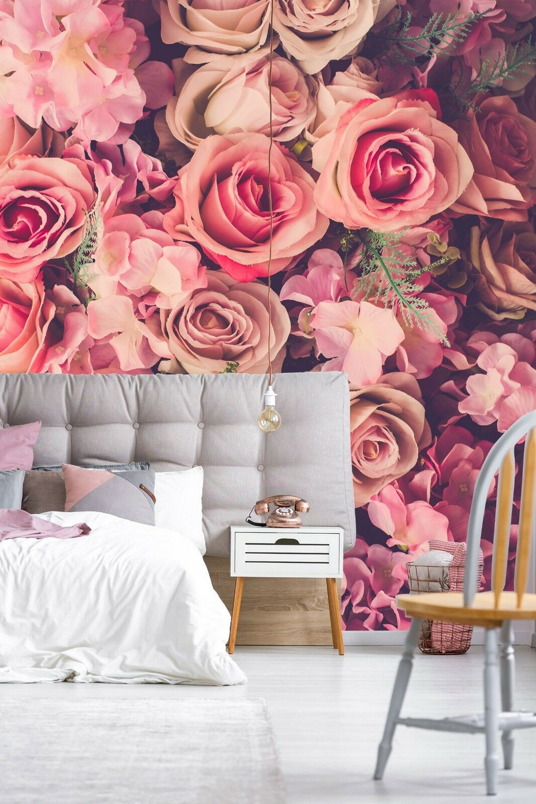 3D pink Floral Pink 45 Wall Paper Wall Print Decal Deco Indoor Wall Mural CA