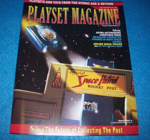 Marx Space Patrol playset and more playset magazine #78 Nov 2014