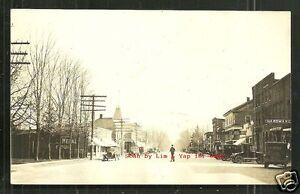 Almont rppc Main Street Hotel Gould Cars MI Michigan ca 1910