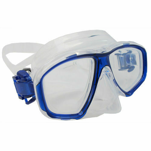 Scuba blueee Dive Mask NEARSIGHTED Prescription RX Optical Lenses