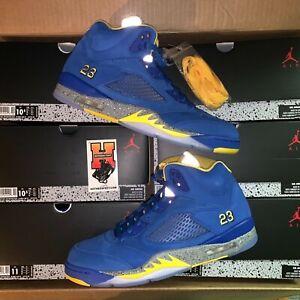 0dcc27e24449 2019 Nike Air Jordan Retro 5 V LANEY Varsity Royal Blue CD2720 ...