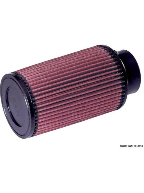 K&N Round Tapered Clamp-On Air Filter (RE-0910)