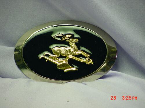 belt buckle John Deere new with brass deer