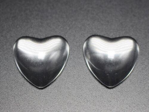 Craft DIY Transparent Clear Love Heart Dome Flatback Glass Cabochon 10mm-30mm