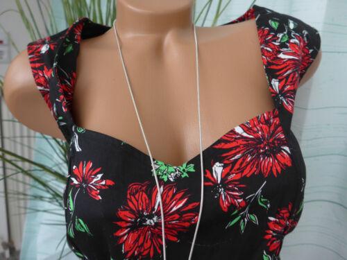 NEUF Joe Browns Robe femme belle encolure Taille 50 noir fleuris 508