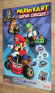 2001 Nintendo Mario Kart Super Circuit Game Boy Advance Promo Poster 84x59.5 cm - Braunschweig, Deutschland - 2001 Nintendo Mario Kart Super Circuit Game Boy Advance Promo Poster 84x59.5 cm - Braunschweig, Deutschland