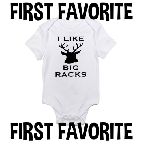 I Like Big Racks Baby Onesie Shirt Shower Gift Hunt Hunting Funny Newborn Gerber