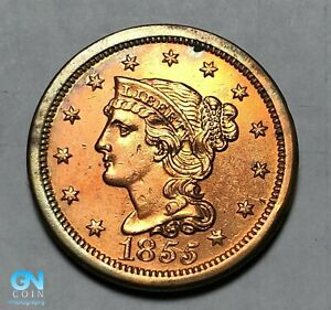 1855-Braided-Hair-Large-Cent-MAKE-US-AN-OFFER-B0007